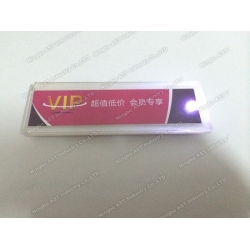 Acrylic box display with LED Module,Led Acrylic box price label