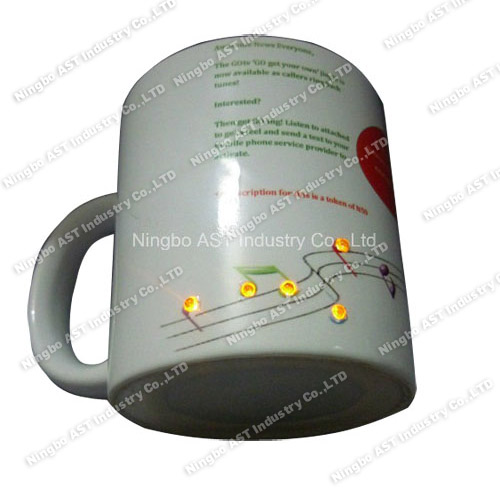 LED Mug, Christmas Mug, Promotion Gift, Ceramic Cup with LED