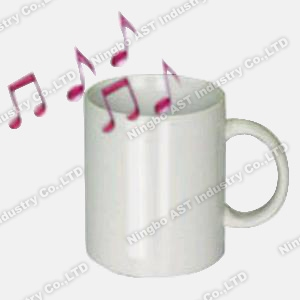 Recordable Mug, Promotional Mug, Ceramic Mug, Music Mug