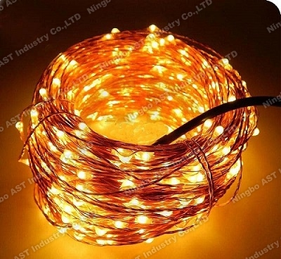 Warm white lighting garland,LED Copper Wire String Lights,Christmas LED copper string lights