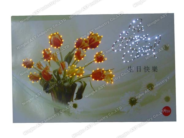 Musical Greeting Cards With LED Lights