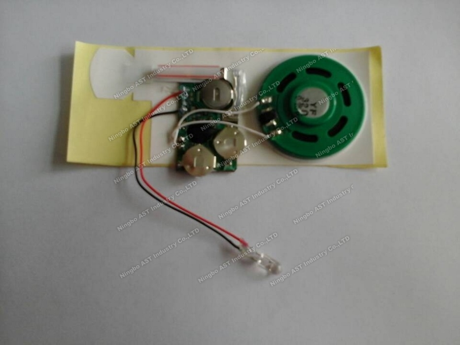 Sound module for greeting cards,vocal module,sound chip,voice module with led light