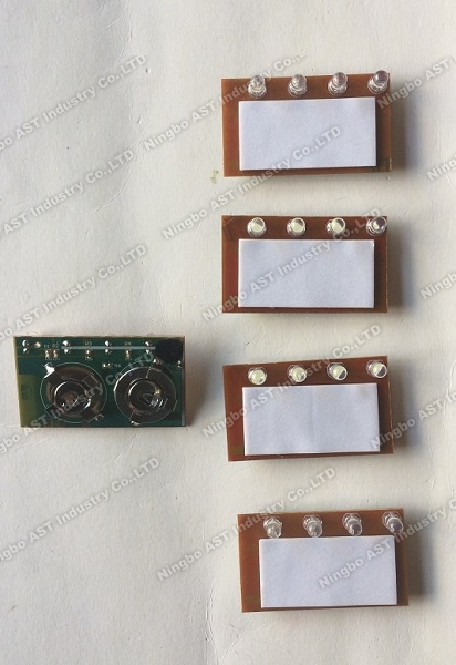 LED Flasher, Single LED lights Button cell power