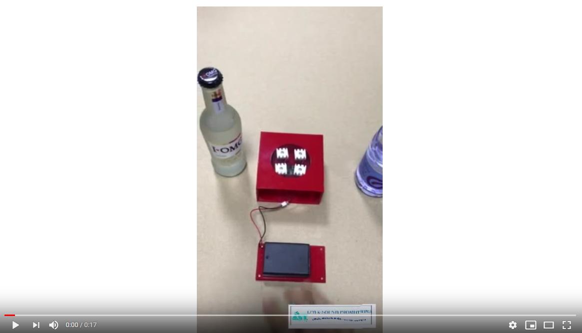 Acrylic box motion sensor led module for bottle and cosmetics